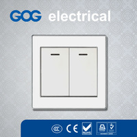 Modern new design british wall switch and socket,2 gang 1 way power switch,2 gang 2 way electric british switch