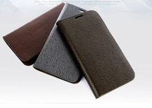 For Samsung Galaxy Note 2 Case N7100 Genuine Leather wallet case Crocodile embossed
