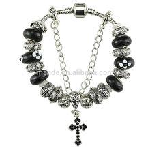 latest religious belief CROSS bracelet glass beads handcraft bracelets for CHRISTIAN fit male& female