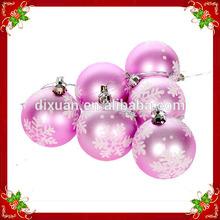 2015 new Christmas tree decorated Pink snow Christmas balls painted matt