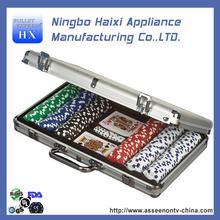 Top level newly design rectangular poker chip set 300pcs