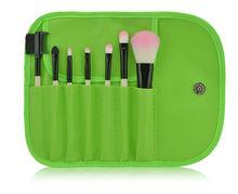 Green Portable Travel 7pcs Makeup Brushes Free Samples