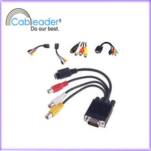 15cm/20cm/30cm vga to red white yellow rca cable factory&manufacturer&exporter