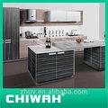2014 novo modelo de mini uv mdf móveis de cozinha com madeira cor de grão