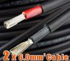 2 X 6.0mm2 Solar Cable TUV Solar Panel wire 2PfG two twin core PV Cable