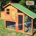 al aire libre de madera casa de la gallina