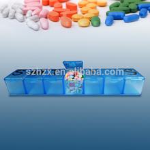 PP Plastic 7 days weekly medicine box in bulking