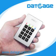 Datage 1.8 inch portable SATA m-SATA module pincode hdd enclosure