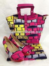 wholesale ankara wax high heel shoes/african wax bag