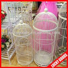 Fancy white iron decorative big bird cage wholesale