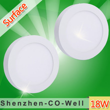 18w led round panel light 3000K 4000K 6000K Surface Mounted Round Shape 12V 24V Dimmable AC85-265V LED Driver