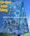 di alta qualità africano tessuto di pizzo netto lago blu pizzo francese pizzo per il partito