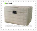 2014 leather Hat Box set, hamper box leather storage hamper