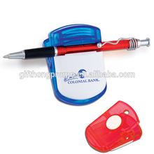 Pen holder Memo clip