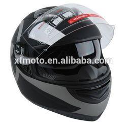 STAR MATTE BLACK DUAL VISOR FULL FACE MOTORCYCLE HELMET+SMOKE SUN SHIELD S M~XL