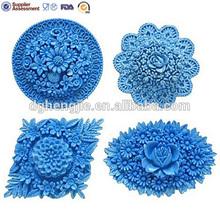 yumuşak silikon kek kalıbı fondan dekorasyon çiçek çiçek şeklinde sabun kalıp