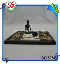 SGY74 Asian Japanese Feng Shui Sand Yoga Zen Rock Garden