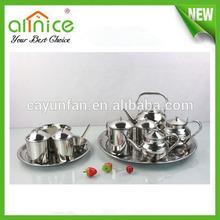12pcs stainless steel arabian tea set / turkish and arabic tea pot set