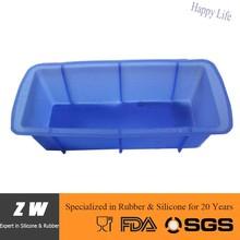 ZW FDA LFGB heat resistant rectangular baking cups
