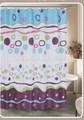 Nouveau design unique 2014 fantaisie. bulle. polyester imprimé rideau de douche