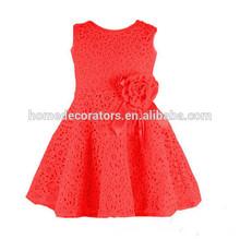2014 baby girl lace dress lace chiffon party dress girl red dress