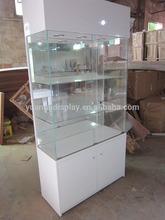showcase with sliding glass locks