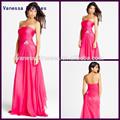 preço mais barato elegante plissado strapless simples vestido de baile de padrões
