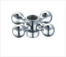 Zinc Alloy Faucet handle grifo torneira zamak die-casting chrome plated handle wheel