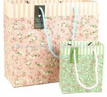 Felt Gift Paper Shopping Bag Printed Colorfull Flowers