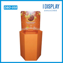 Basketball retail paper dump bin corrugated pallet display racks and stands