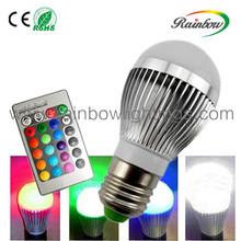 RGB color change led bulb 3w 5w rgb spot