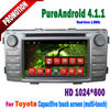 Android 4.1 car radio navigation system toyota hilux with gps blurtooth wifi 3G tv tontek
