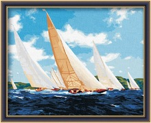40*50cm Sailing Vessel DIY Oil Painting by Numbers