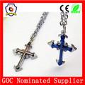 Hombres modernos cruz colgante encanto/azul y de color marrón colgante cruz/cruz collar( hh- colgante- 012)