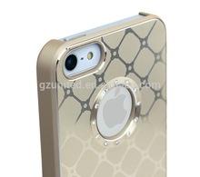 for apple iphone 5 5S puzzle design aluminum gold +rhinestone white diaomnd popular design phone case cover