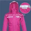 Impermeable durale, impermeable doble, 3m reflexivo impermeables respirable reflectante traje de lluvia