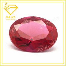 6*4mm factory price oval shape #5 ruby/ red corundum gems/gemstone