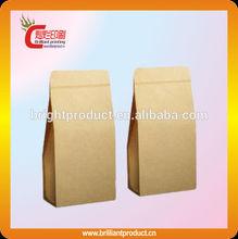 Top quality kraft paper brown Grocery bag holder food packaging custom printed grocery bag