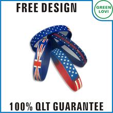 Free design Japan quality standard wristband bracelet silicone gift