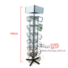 Multi-level removable 4 sided metal rotatable snack display rack