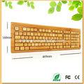 2014 nuovi prodotti arabo versione bambù tastiera wireless 108 tasti della