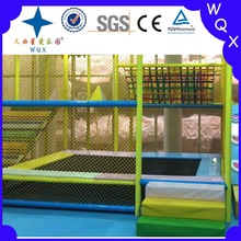 kids indoor jumping and trampoline bed with 3 step soft stairs