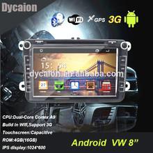 "VW jetta dvd player/8"" android touchscreen vw golf/8 inch passat cc car dvd player"