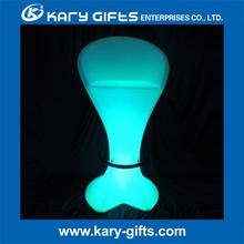 Flashing Color LED Bar Plastic Chair