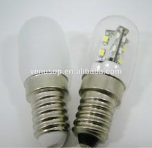 t22 20pcs 1W 360degree fridge bulb Clear Frosted LED Tubular lamp CE ROHS E12 LED refrigerator light