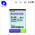 li-ion 3.7v compatible battery for nokia mobile phone batteries for bl-5b