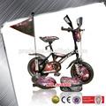 nuevo 2014 barato modelo de bicicleta de los niños con cuatro ruedas de bicicleta