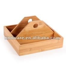 Wholesale bamboo kitchen spice jars holder