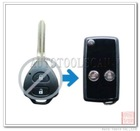 2 button remote key case for toyota key fob blank [ AS007003 ]