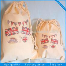 eco mini cotton drawstring bag